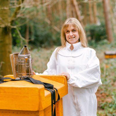 Carly Hooper In Bee Keeping Suit