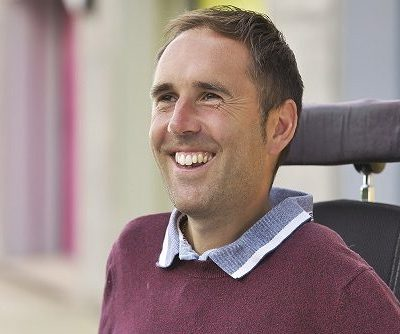 Martyn Sibley In His Wheelchair Outside 780x334