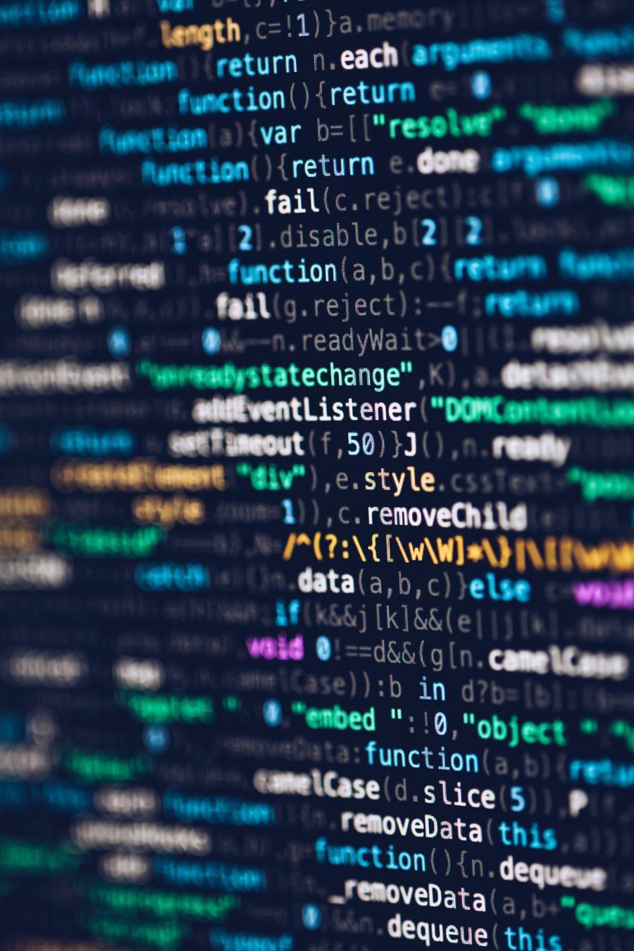 image of website code