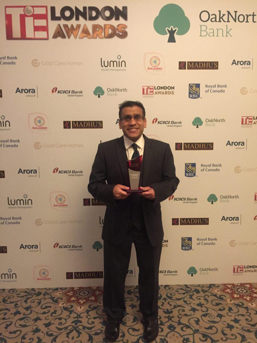Kush Kanodia Tie London Award